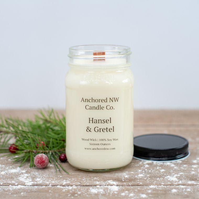 Mason Jar Soy Candle - Hansel & Gretel (16 oz.)