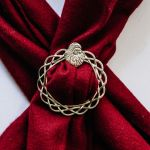 USA Handcrafted Pewter Santa Face Christmas Theme Scarf Ring Jewelry