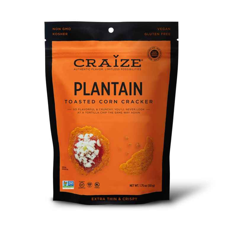 Plantain Toasted Corn Crackers 1.75oz