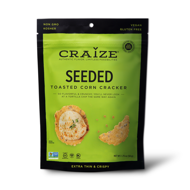 Seeded Toasted Corn Crackers 1.75oz