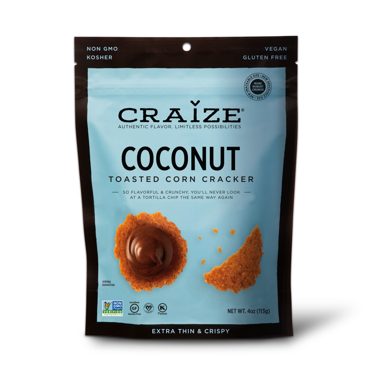 Coconut Toasted Corn Crackers 4oz