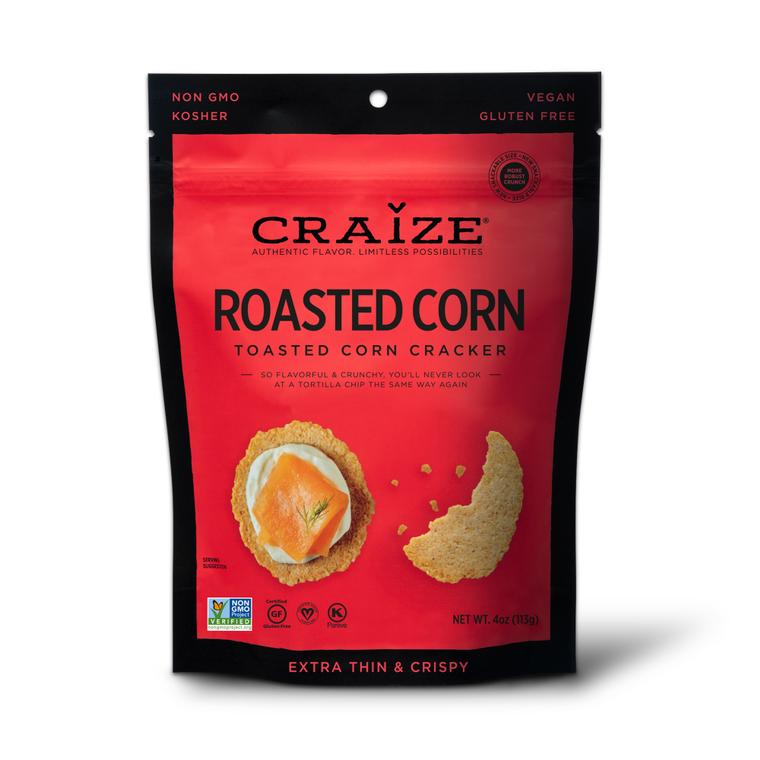 Roasted Toasted Corn Crackers 4oz