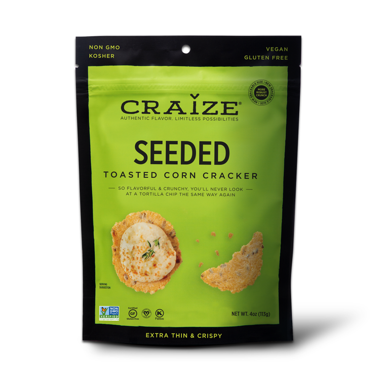 Seeded Toasted Corn Crackers 4oz