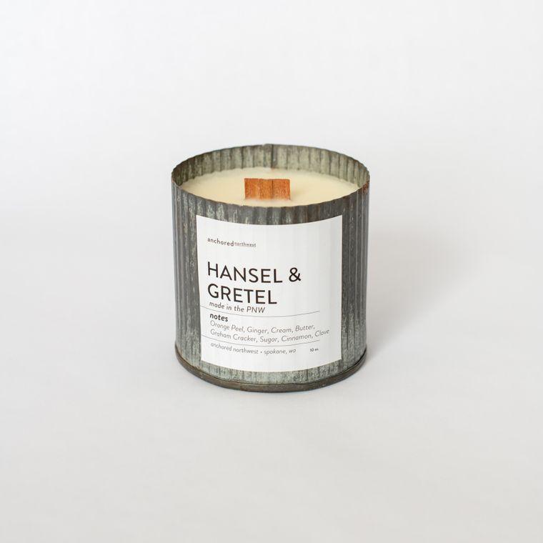 Hansel & Gretel - Rustic Vintage Wood Wick Candle