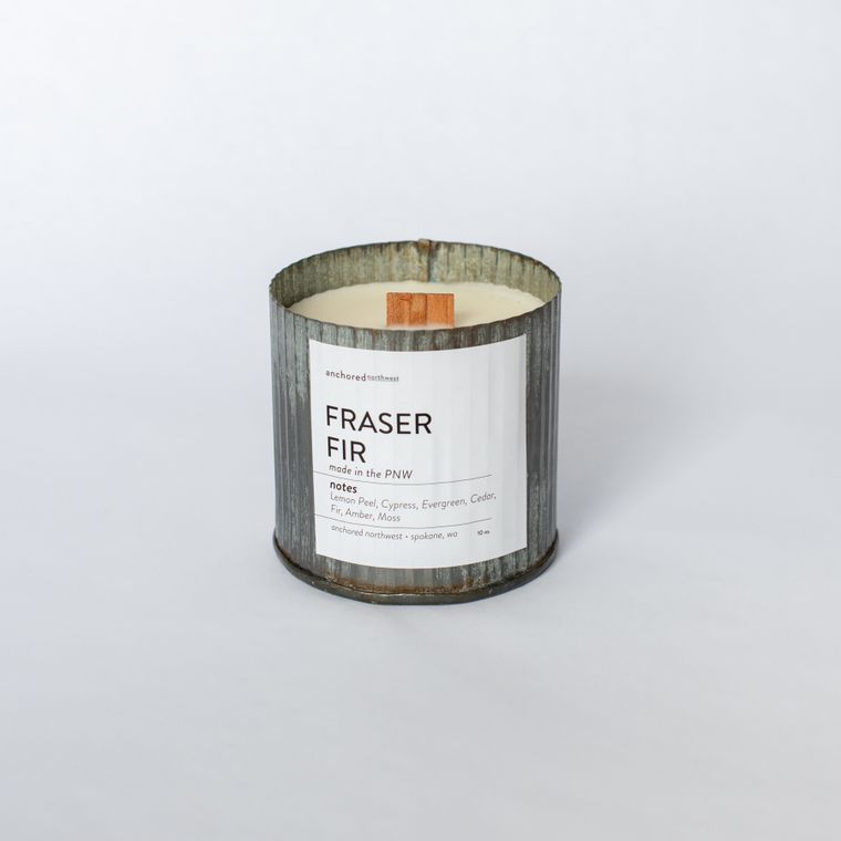 Fraser Fir - Rustic Vintage Wood Wick Candle