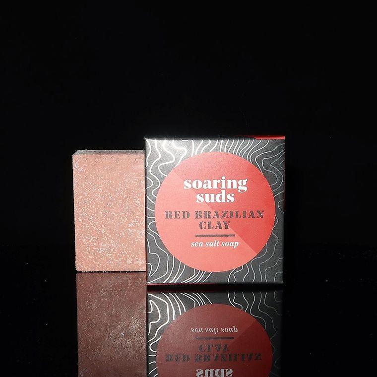 Red Brazilian Clay Sea Salt Soap