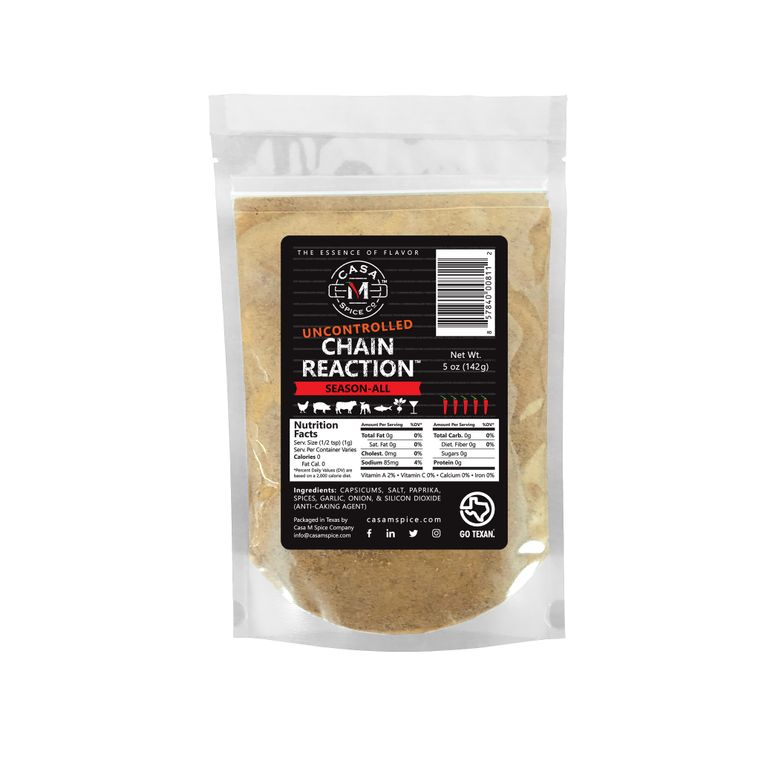 Casa M Spice Co® Uncontrolled Chain Reaction® Season-All (Refill Bags)