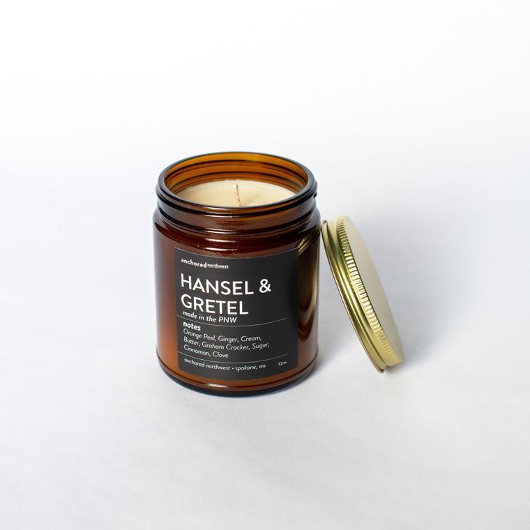 Hansel & Gretel - Amber Jar w/ Cotton Wick