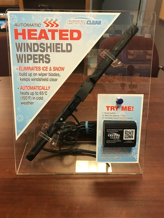 Automatic heated wiper blades