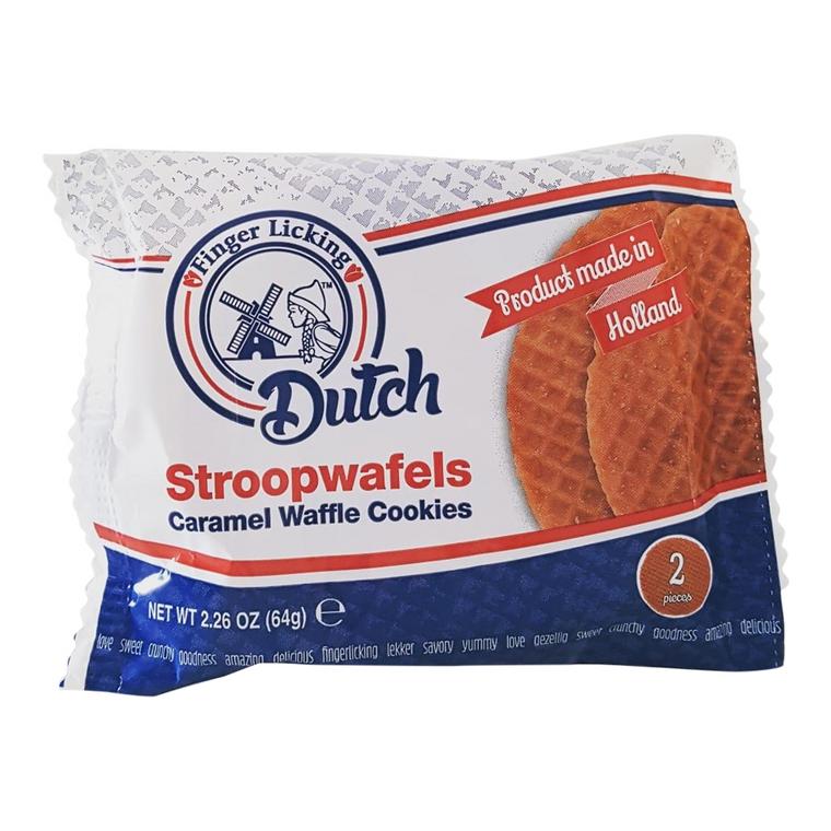 Original Dutch Caramel Stroopwafels: 50 x 2-Packs (100 Cookies)