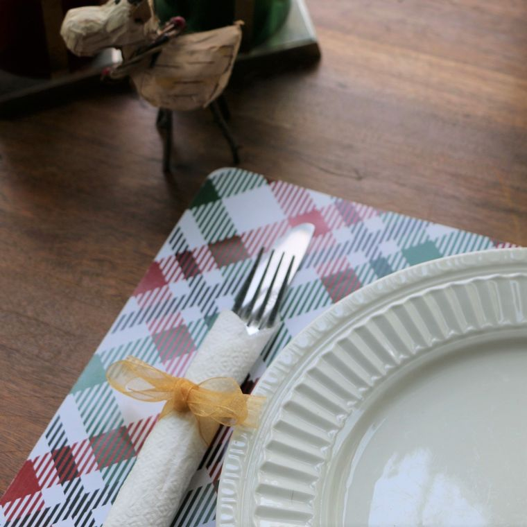 Holiday - Plaid Paper Placemats