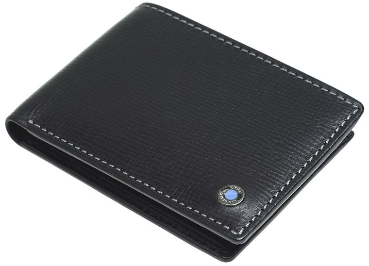SWISS REIMAGINED Mens RFID Billfold Wallet - Leather - 4 Credit Cards - Black