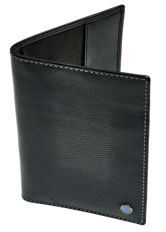 SWISS REIMAGINED Mens RFID Leather Wallet Passport & Credit Card Holder - Black