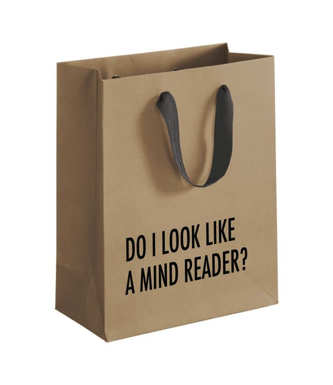 Mind Reader Gift Bag