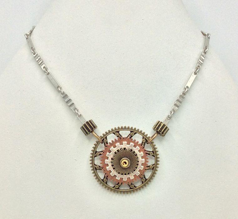 Industrial Gear Necklace