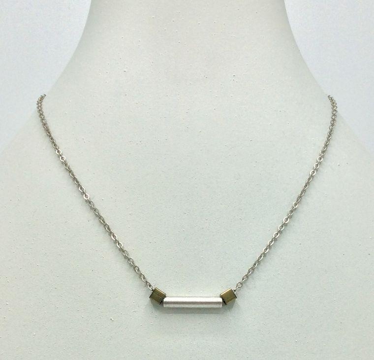 Minimalist Tube Necklace