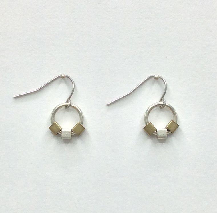Minimalist Cube Earrings