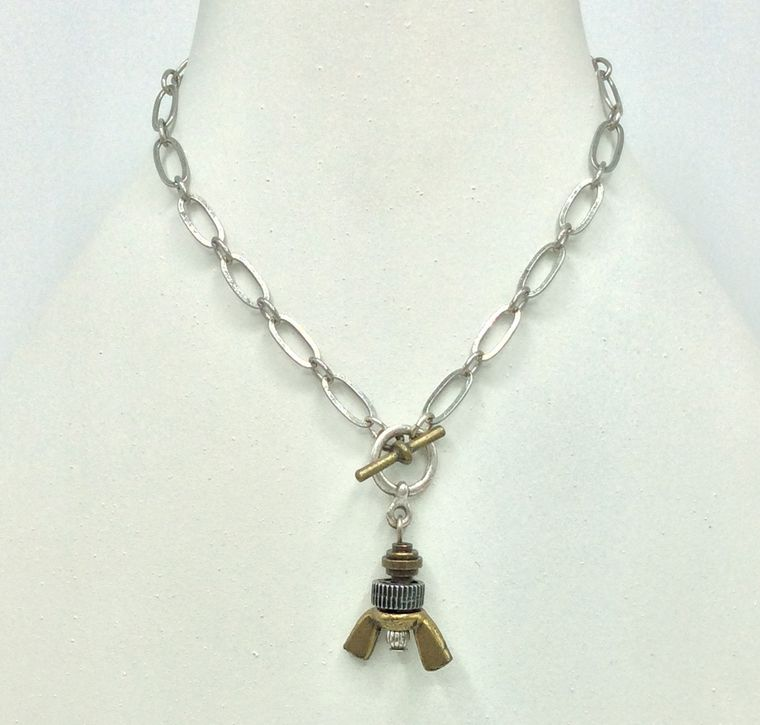Wingnut Toggle Necklace