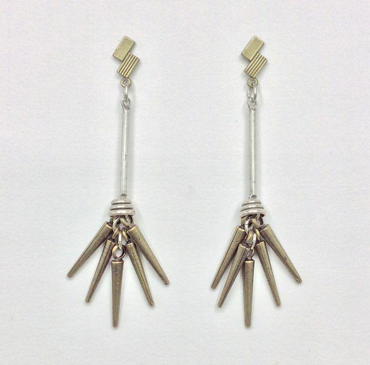 Spike Cluster Dangle Earrings