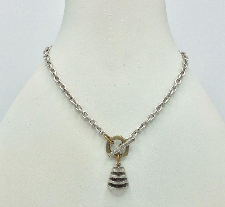 Art Deco Toggle Necklace