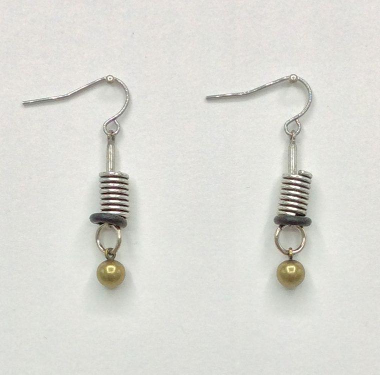 Industrial Spring Earrings