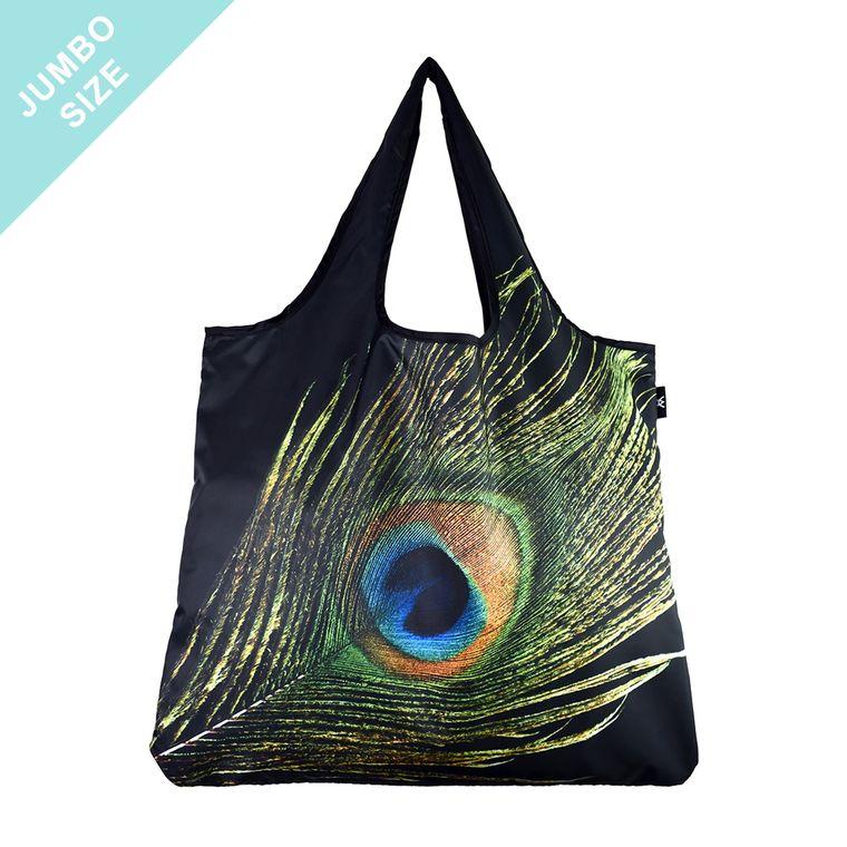 YaYbag JUMBO Stylish Reusable Bag - Peacock