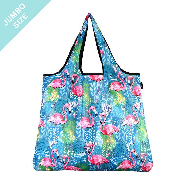 YaYbag JUMBO Stylish Reusable Bag - Flamingo