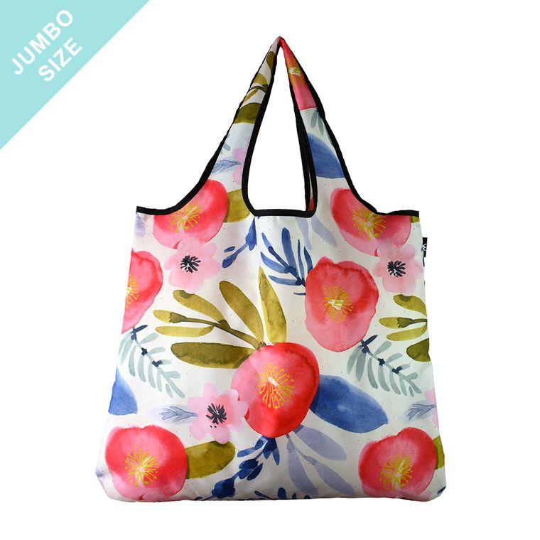 YaYbag JUMBO Stylish Reusable Bag - Watercolor Floral