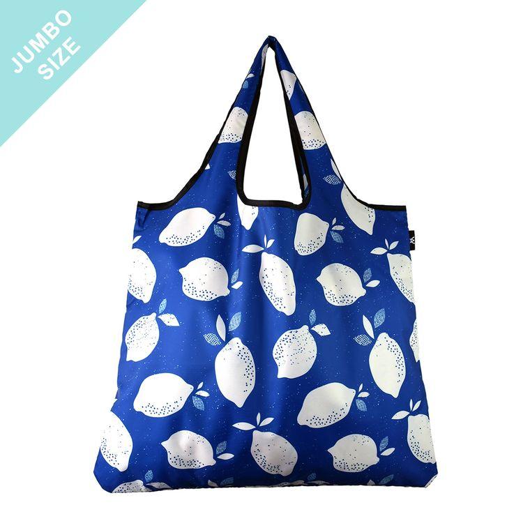 YaYbag JUMBO Stylish Reusable Bag - Blue Lemon