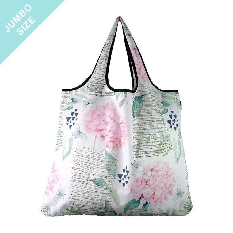 YaYbag JUMBO Stylish Reusable Bag - Pink Hydrangea
