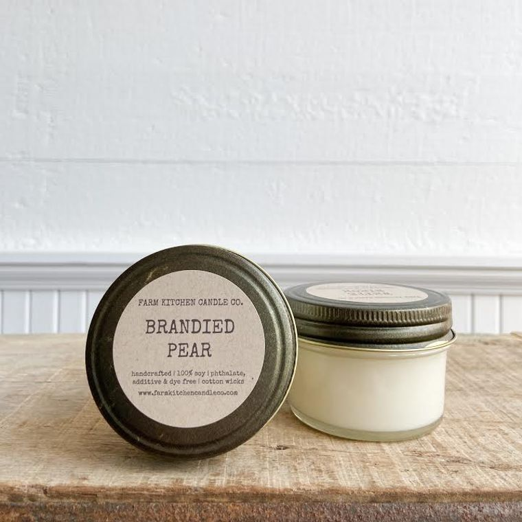 NEW FALL!  Brandied Pear soy candle- mini
