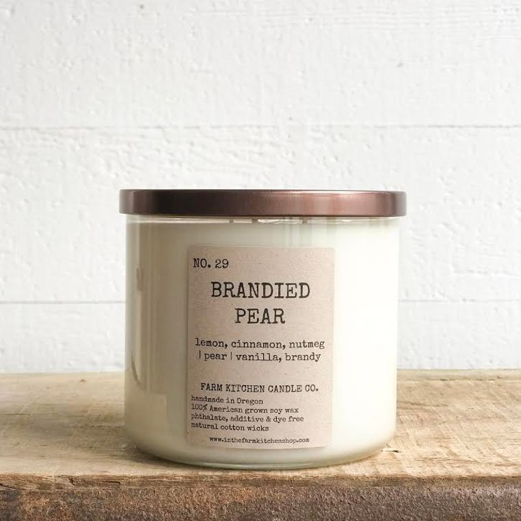 NEW FALL!  Brandied Pear soy candle- triple wick