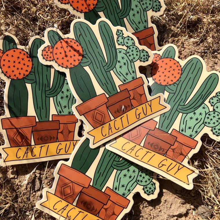 Cacti Guy Vinly Sticker