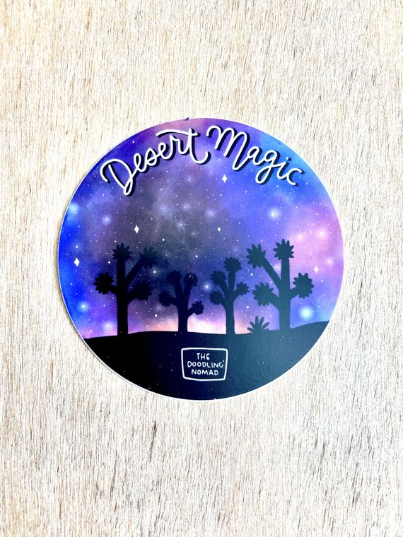 Desert Magic Vinyl Sticker