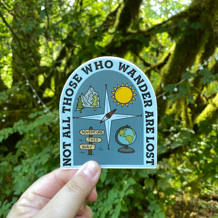 Not All Those That Wander Vinyl Sticker