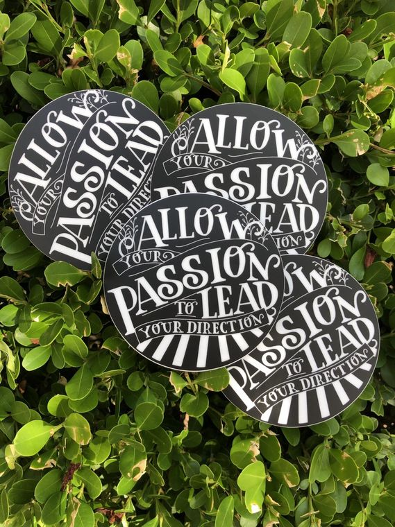 Passion Vinyl Sticker