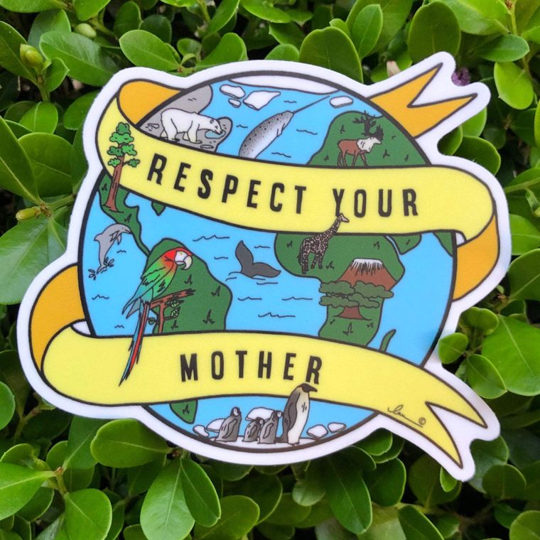 Respect Your Mother Vinyl Sticker