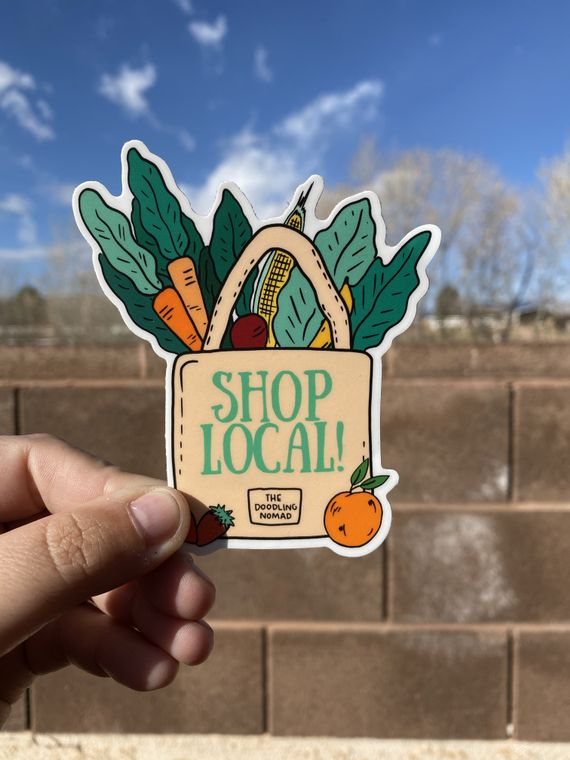 Shop Local Vinyl Sticker
