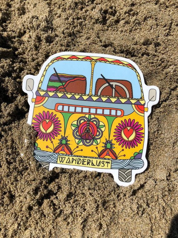 Wanderlust Bus Vinyl Sticker