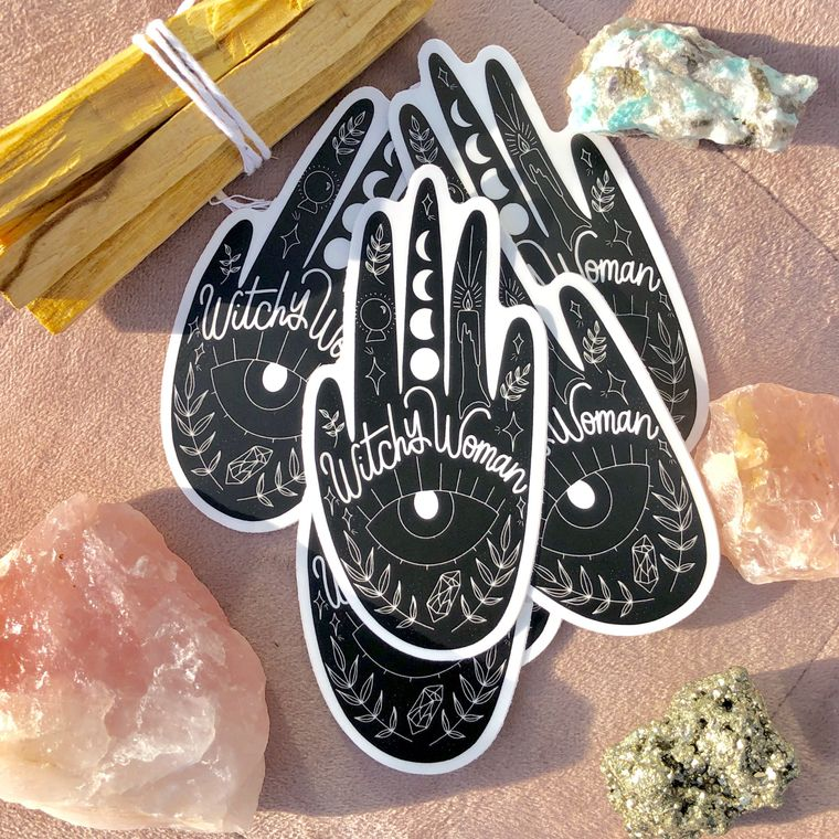 Witchy Woman Vinyl Sticker