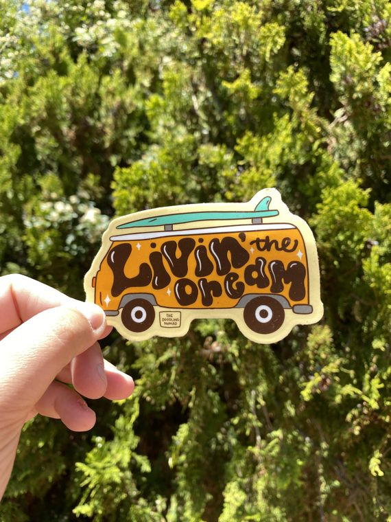 Livin' The Dream Vinyl Sticker
