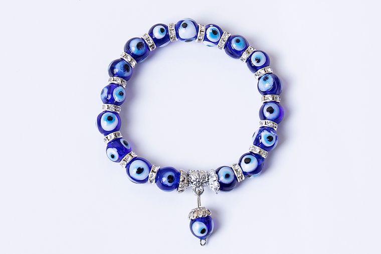 Evil eye bracelet - navy/dark blue