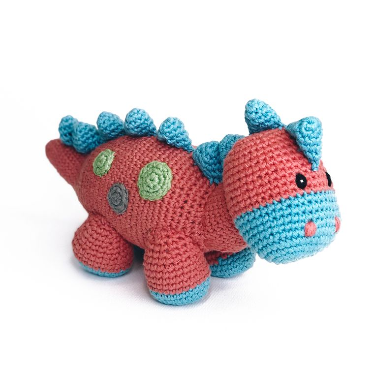 Dino Rattle - Steggy Coral - 10 Year Anniversary Edition