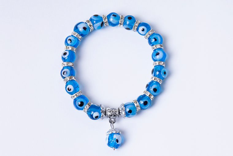 Evil eye bracelet - blue