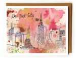 Pink NYC abstract - Blank Card