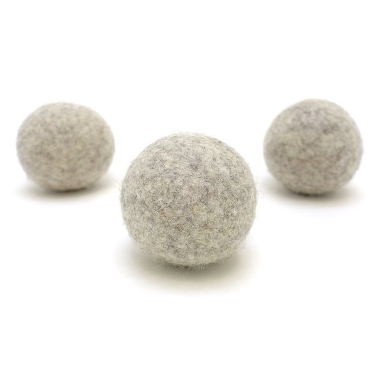 Light Gray Wool Dryer Ball