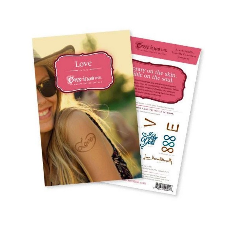"""Love"" Manifestation Tattoo Variety Pack"