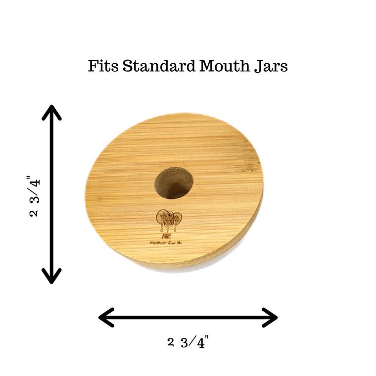 Standard Mouth Bamboo Mason Jar Lids