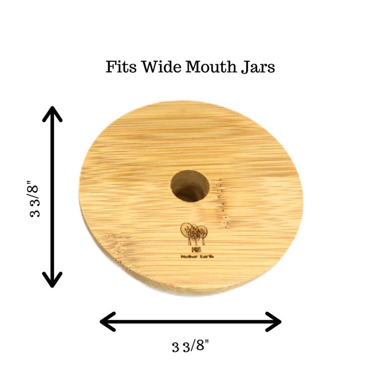 Wide Mouth Bamboo Mason Jar Lids
