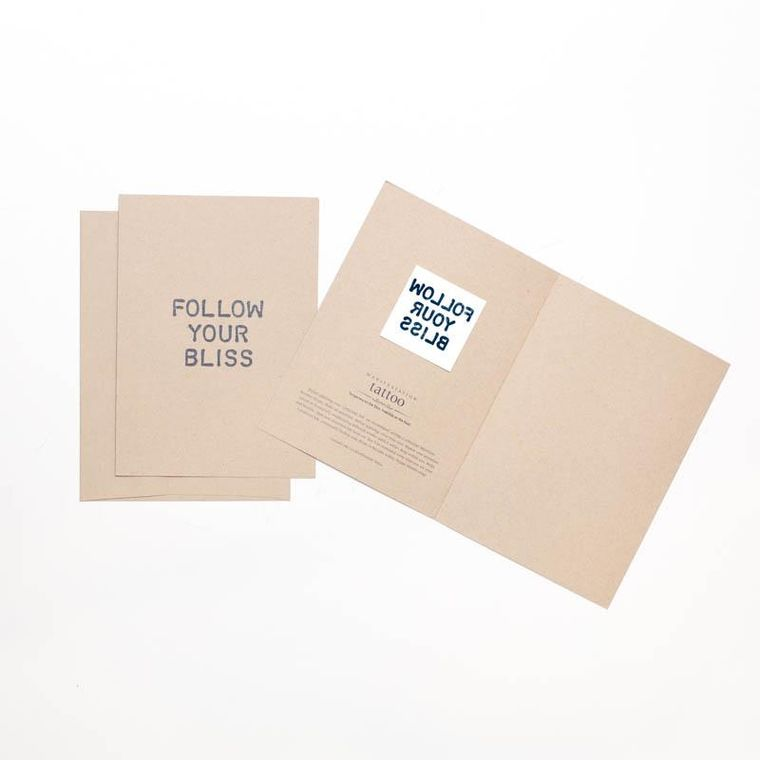 """Follow Your Bliss"" Manifestation Greeting Card"